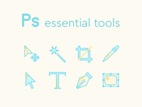 Essential Photoshop Tools Icons