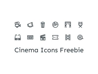 Cinema Icons 3d dvd stage ticket pop corn theater camera director movies film cinema
