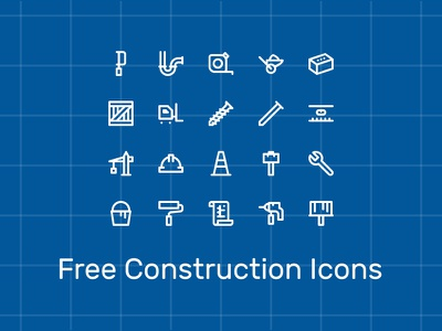 Construction Icons system brush blueprints paint tools construction