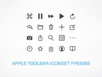 Apple Toolbar Icons