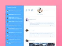 Social Media Activity Feed UI