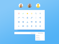 Icons Menu And Profile Pic Ui Kit