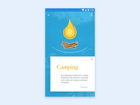 Camping Illustration App UI