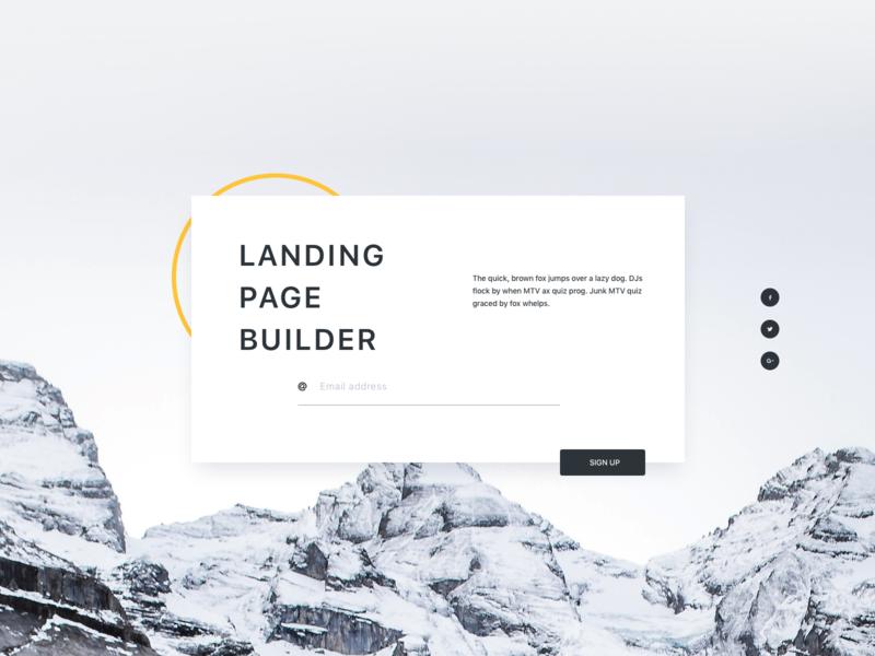 Landing Page Builder Kit title card ui landscape design typography social media buttons header card webpage minimal ui kit