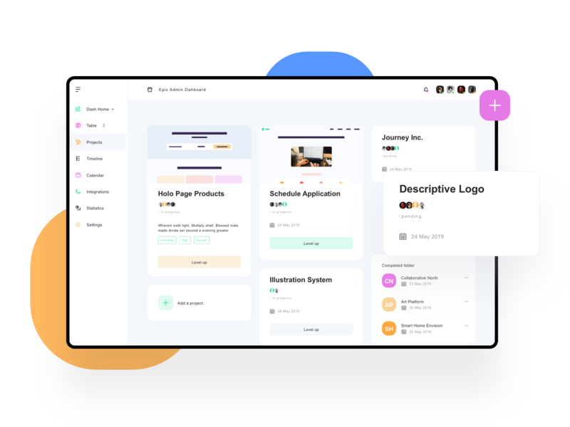 Detailed Cards for Admin Dashboard website web vector ux ui sketch minimal ipad ios icon blue graphic design flat design dashboard concept color clean branding app