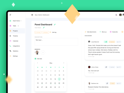 Individual Project Dashboard Page
