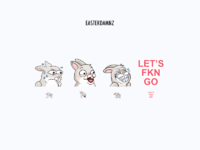 Easterdamnz Twitch Emotes by Roxana Carabas for Epic Coders