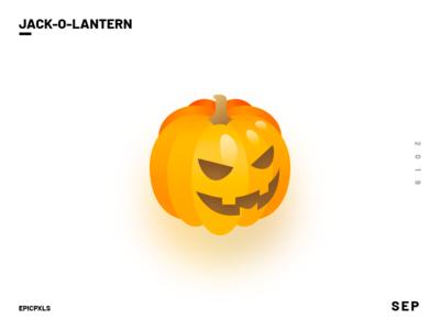 Jack-o'-lantern gradient art ornament orange isometric 3d illustration character creepy spooky halloween jackolantern pumpkin