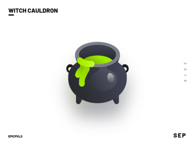 Witch Cauldron Icon Preview