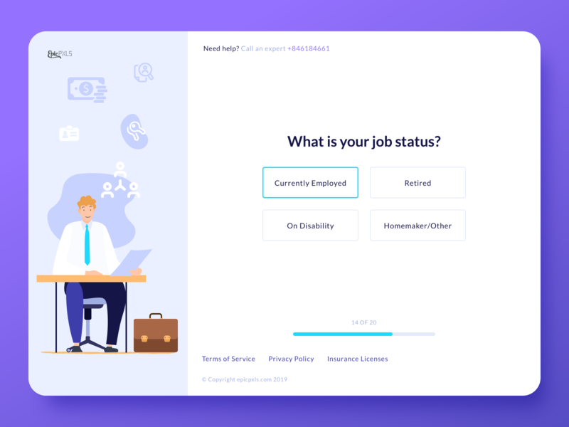 Questionnaire illustration icons digital artist wizard suitcase man character office ux ui survey form website webpage web digital artwork artwork digital art illustration sketch flat