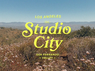 Studio City 🌞 landscape view nature san fernando valley cali bookmania retro valley typography la california los angeles studio city