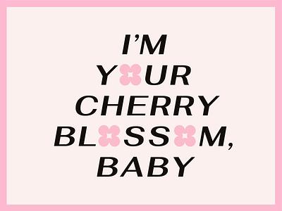🌸 cherry blossom 🌸 cherry blossom kacey musgraves typography retro groovy