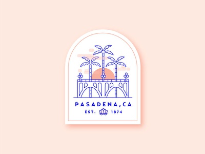 Hometown Badge california colorado bridge city of roses bridge hometown badge pasadena