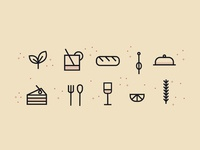 Icon set for food & drink blog