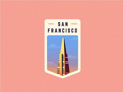 Transamerica Pyramid - San Francisco transamerica building transamerica pyramid san francisco badge san francisco badge downtown building architecture transamerica