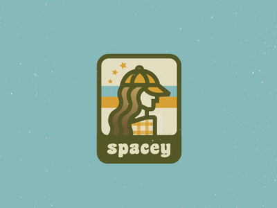~ s p a c e y ~ explorer girl explore adventure badge groovy spacey