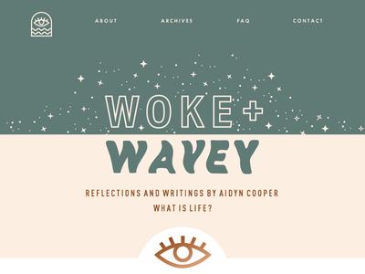 Woke + Wavey blog design space spacey wanderlust stars blog design wokeandwavey wavey woke cosmic blog