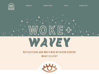 Woke + Wavey blog design