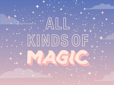 """All kinds of magic"" ✨ wavey typography dawn sky mystical magical lyrics kacey musgraves stars spacey cosmic magic purple sky sunset dusk"
