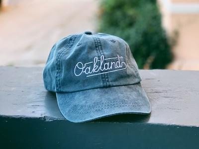 Oakland Dad Hat 🧢 apparel merch lettering oakland hat baseball cap cap dat hat