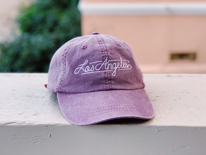 The LA Dad-Hat 🧢 💟 🌞 typography socal california embroidery basketball los angeles lakers lakers los angeles lettering apparel merch dad hat baseball cap cap hat
