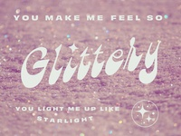 ✨Glittery✨ twinkle lyrics kacey musgraves sparkles glitter lettering retro 70s spacey typography groovy
