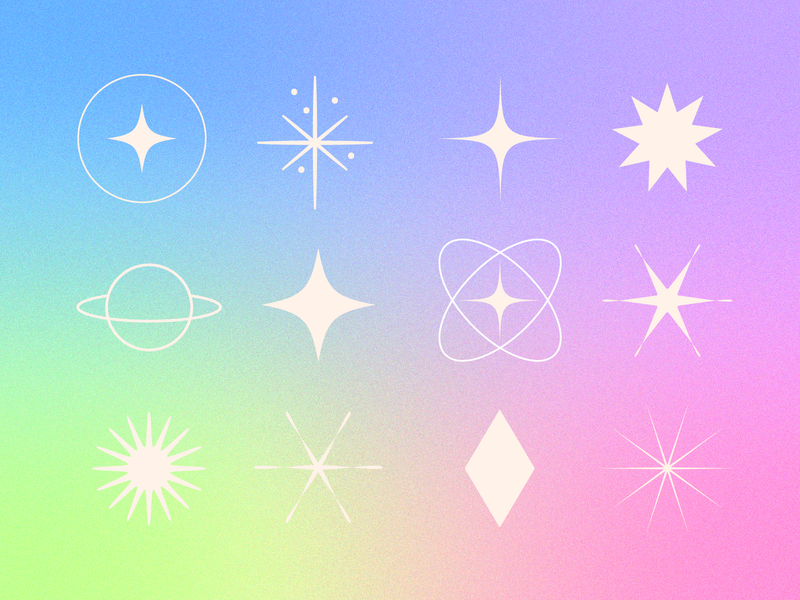 ✨Twinkling Icons✨ icons gradient spacey outerspace cosmic twinkle icon set space stars