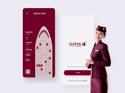 Flight Pass UI airways airplane animation interaction hello aftereffects minimal flat dribbble uiux userinterface ui qatar