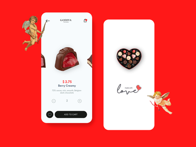 Valentine Chocolate app invisionapp 2danimation 3d adobexd figmadesign gift box chocolate valentine day 2d flat ux hello ui app aftereffects minimal design dribbble animation