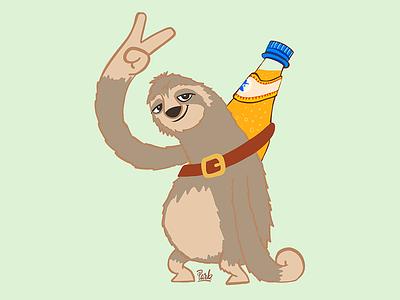 Sloth drink club mate ipad sloth illustration