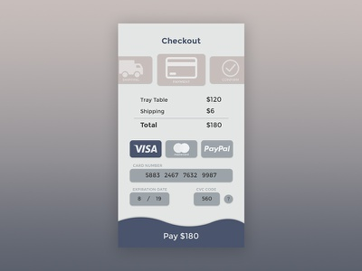 Credit Card Checkout sketch webdesign mobile checkout dailyui ui