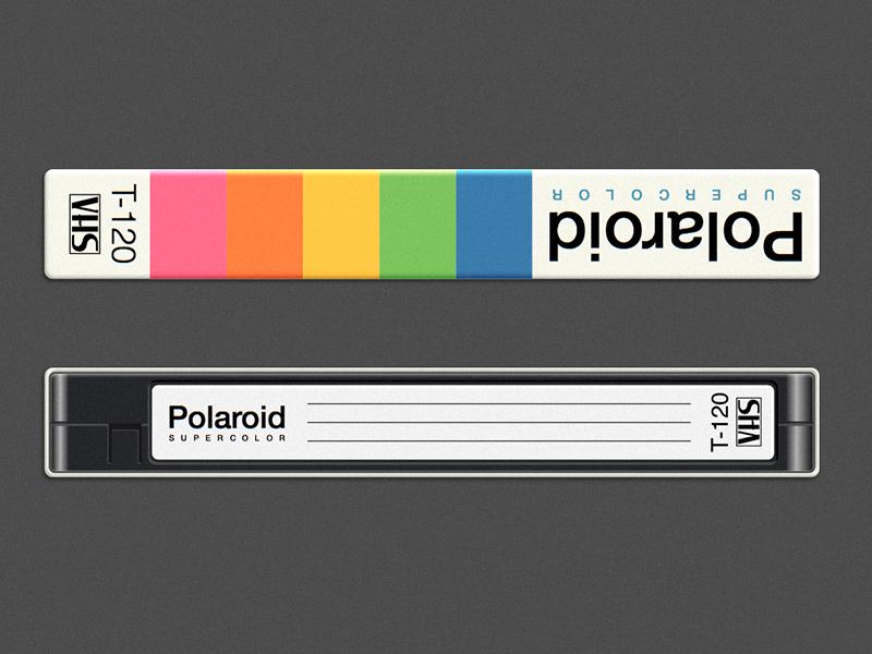 Polaroid Supercolor VHS vhs tapes polaroid