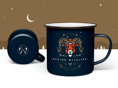 Alpine Wild Mug mug coffee mug wildlife type mountains hiking bighorn badge alpine