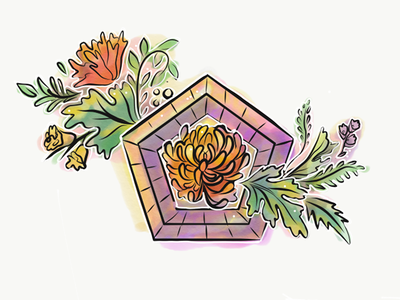 Flwers3 illustrator adobe art roses sphere succulents sketch illustration