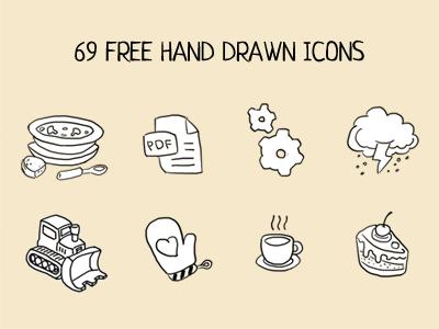 Hand drawn icons by ilya dribbble