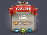 Game UI . Lose
