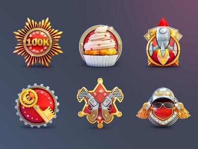 Game Badges Set