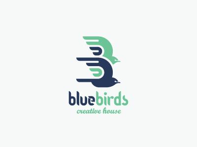 Bluebirds creative house logo