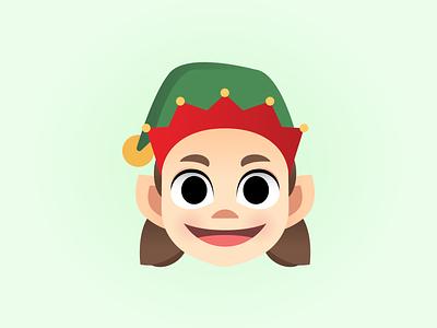 Elf adobe illustrator cute childrens illustration christmas elf vector characterdesign