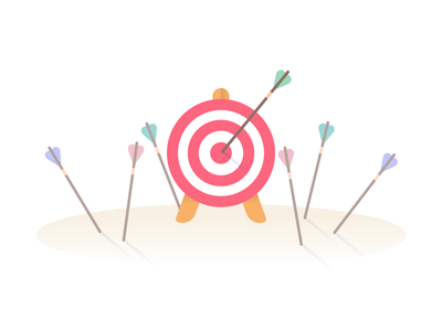 Target 🎯 archery arrows goals target adobe illustrator illustration vector
