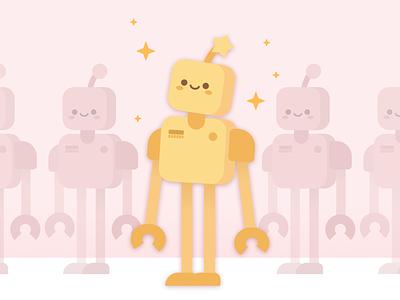 Robot robots robot cute childrens illustration characterdesign character illustration vector