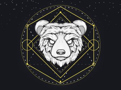 Star bear yellow black bear star