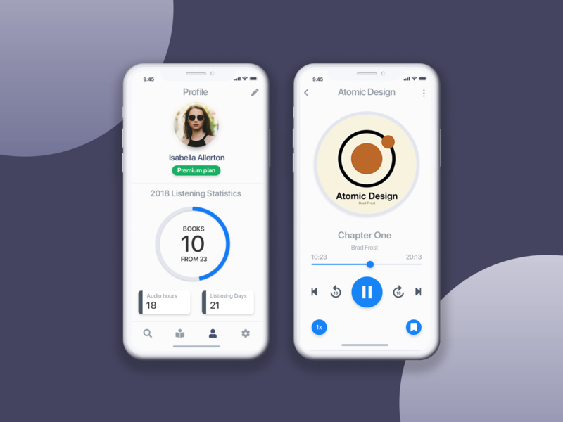Audiobook App Concept by Daryna Gulenko on Dribbble