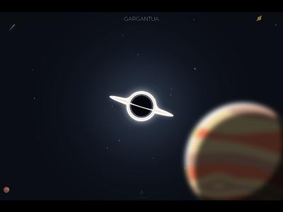 Gargantua artwork art gargantua galaxy interstellar blackhole science planet design space art graphic design illustration