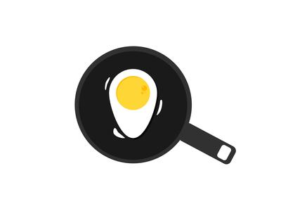 Logo Concept Egg And Locator Pin