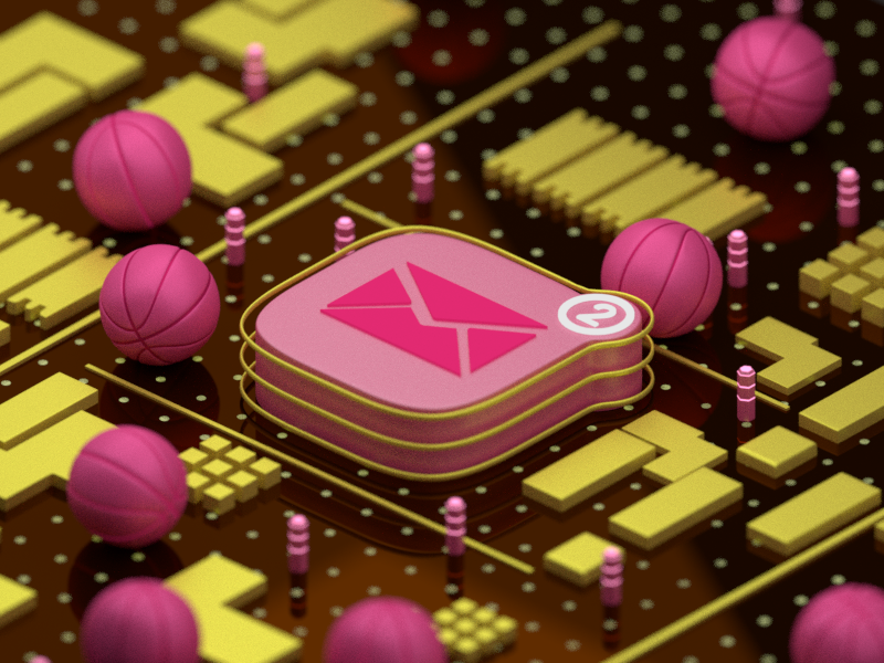 Dribbble Invite Animation motion graphics motion design illustration app icon abstract concept circuit blender 3d dribbble invite 3d animation animation blender graphic design