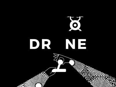 Drone Wordmark Animation texture hand drone illustration concept animation typography motion graphics design logo motion design logo design graphic design