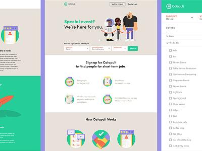 Catapult — Interface branding illustration motion startup