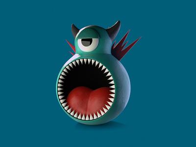 3D Monster design monster illustration blender3d blender