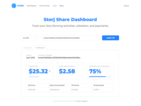 Storj Payout Web App V1